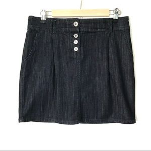New York & Company dark denim summer mini skirt